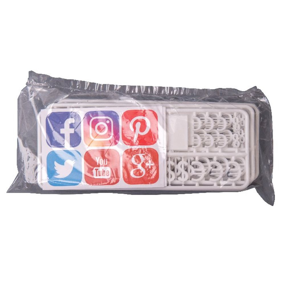 Announce Social Media and Currency Peg Characters, Pack of 216 - PEG-SMC/6/CW