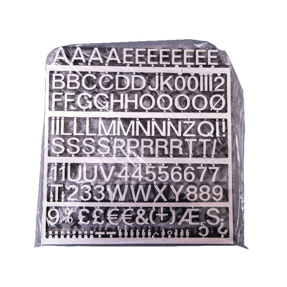 Announce Polished Silver 19mm Peg Letters, Pack of 234 - ANNTVX-19/PS