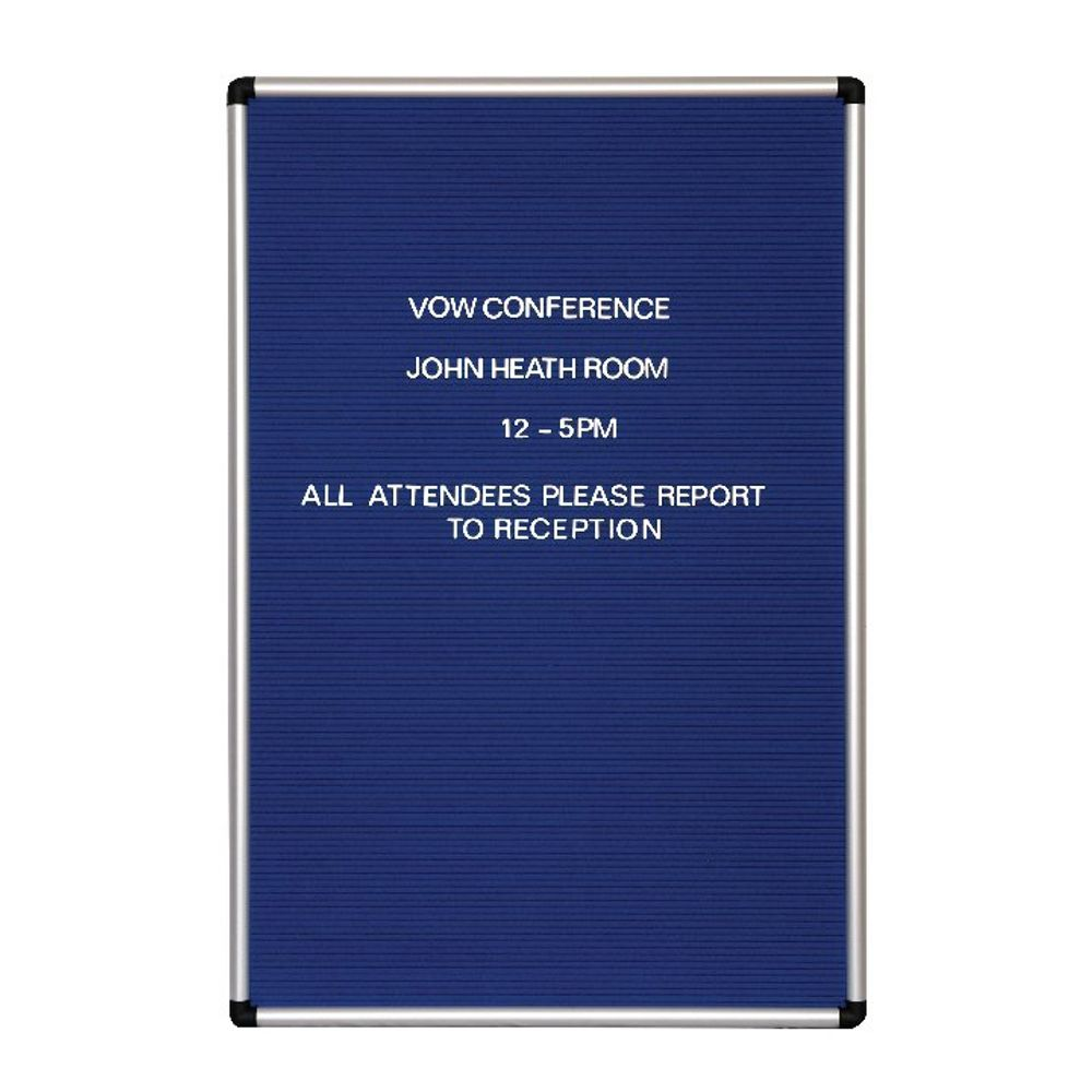 Announce 600 x 900mm Groove Letter Board - 1/SR-9060/P/SS/GU/PS 19MM