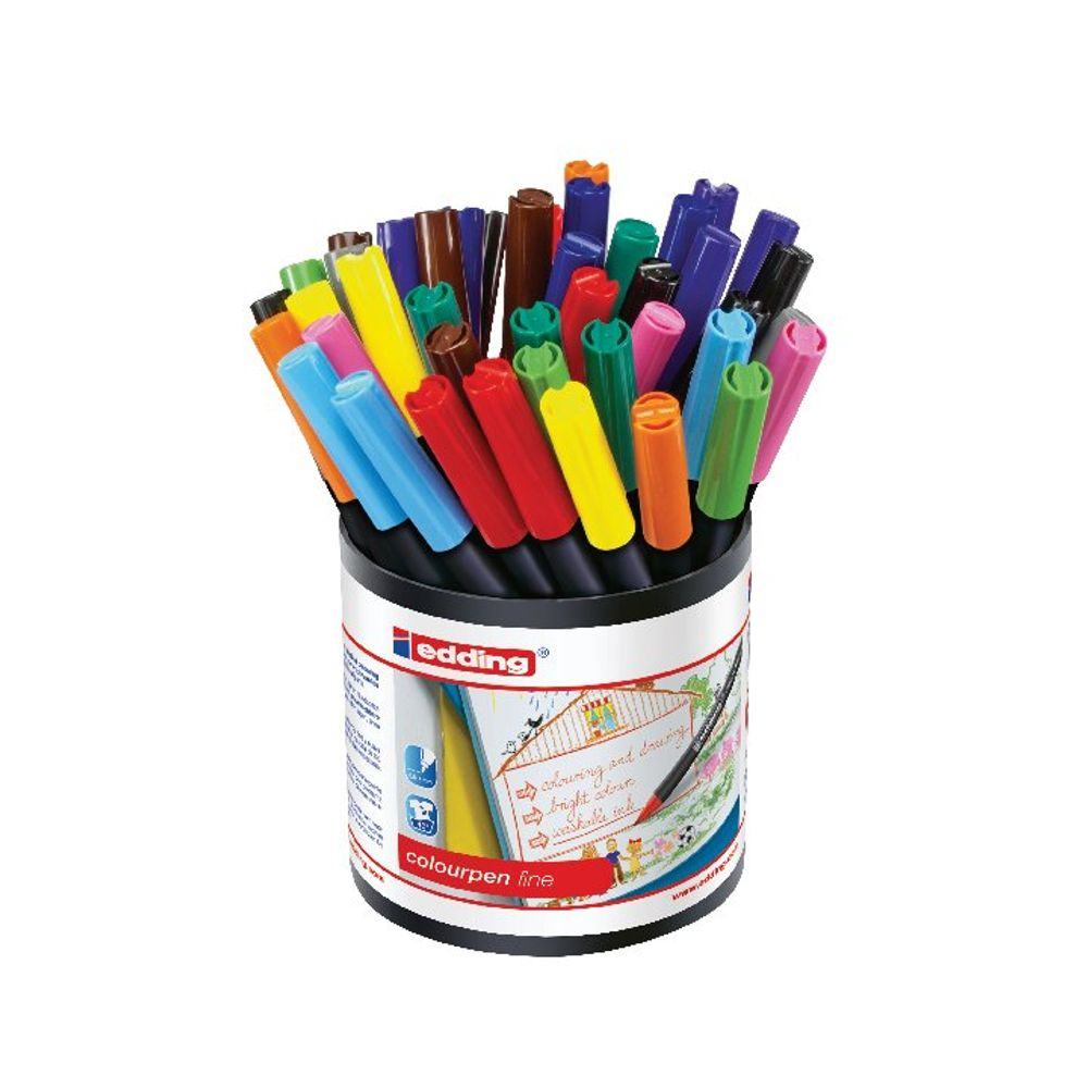 edding Colourpen Assorted Fine Markers, Pack of 42 - 1405000