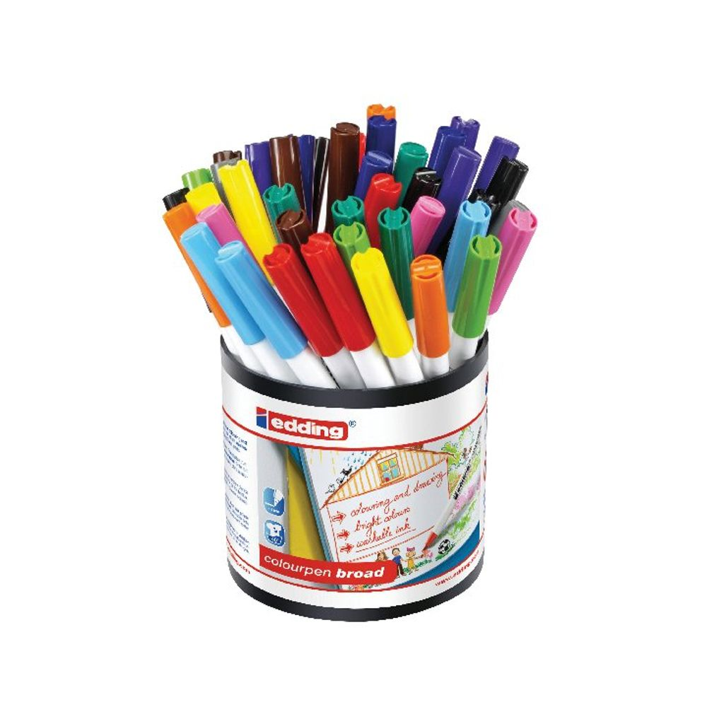 edding Colourpen Assorted Broad Markers, Pack of 42 - 1406000