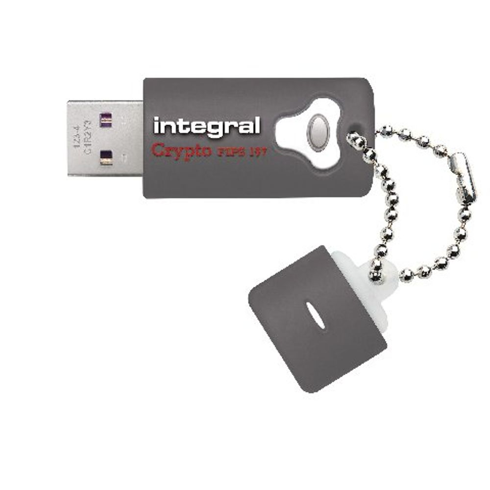 Integral 8GB USB 3.0 Crypto Encrypted Flash Drive - INFD8GCRY3.0197