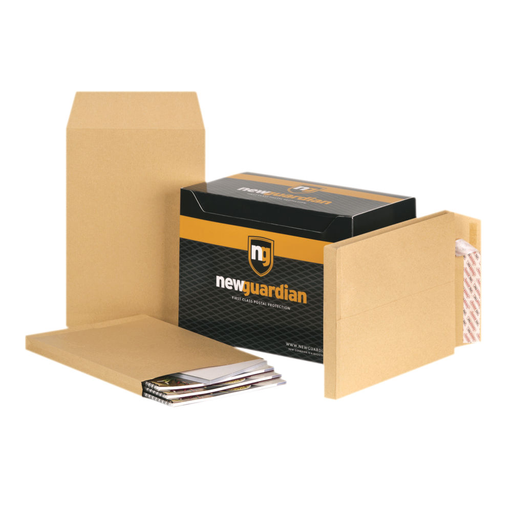New Guardian Manilla Gusset Self Seal C4 Envelopes 130gsm- Pack of 100 - 6388808