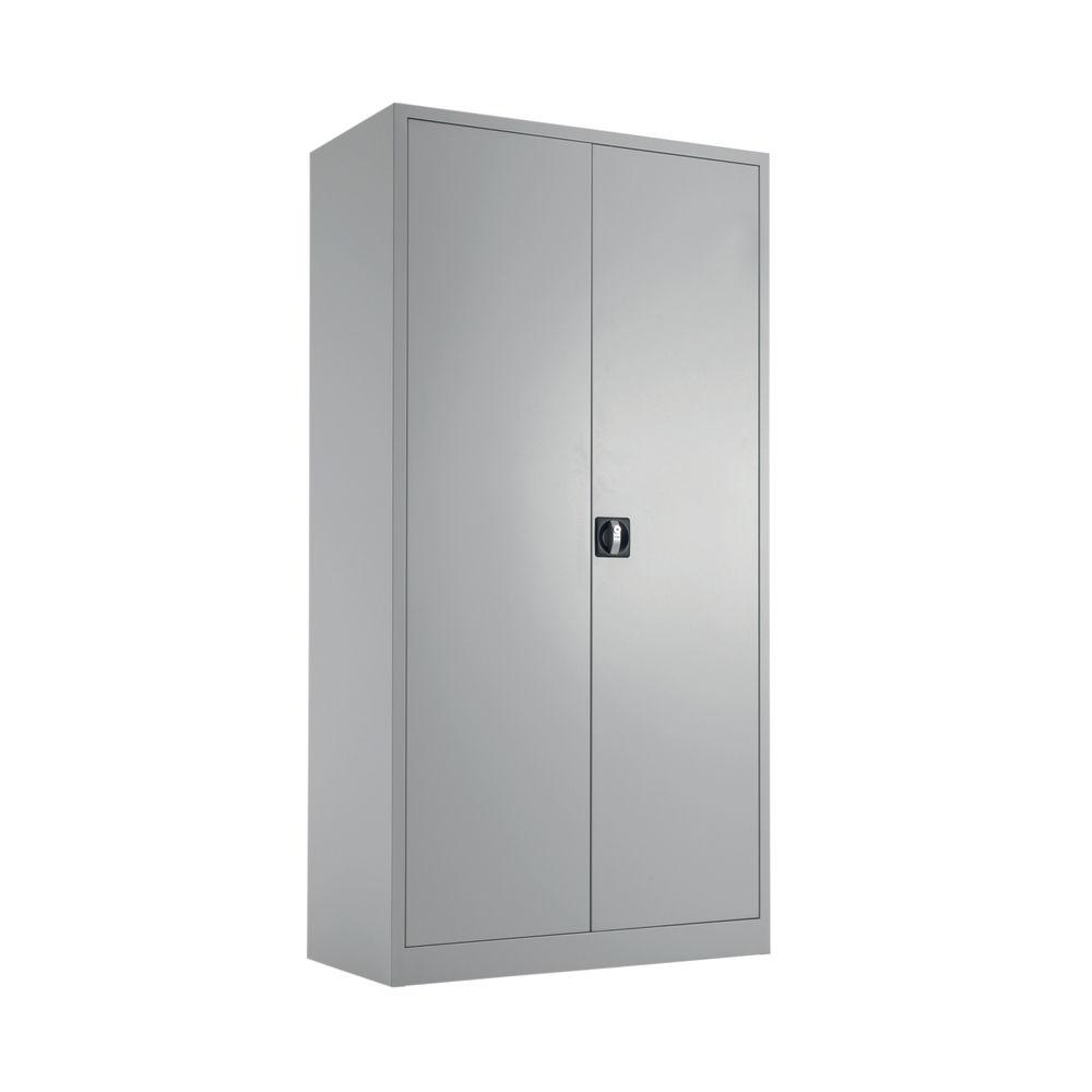 Talos 1790mm Grey Double Door Stationery Cupboard