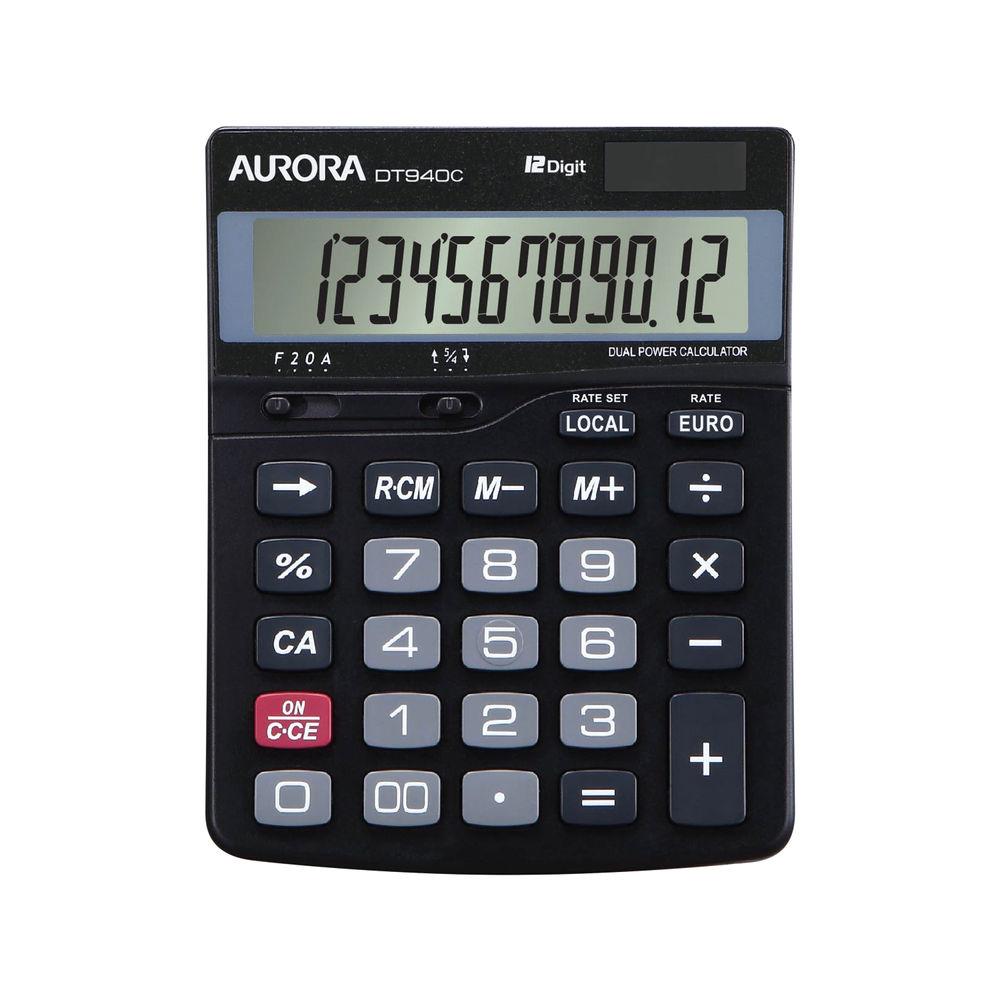 Aurora DT940C 12 Digit Semi Desktop Calculator DT940C
