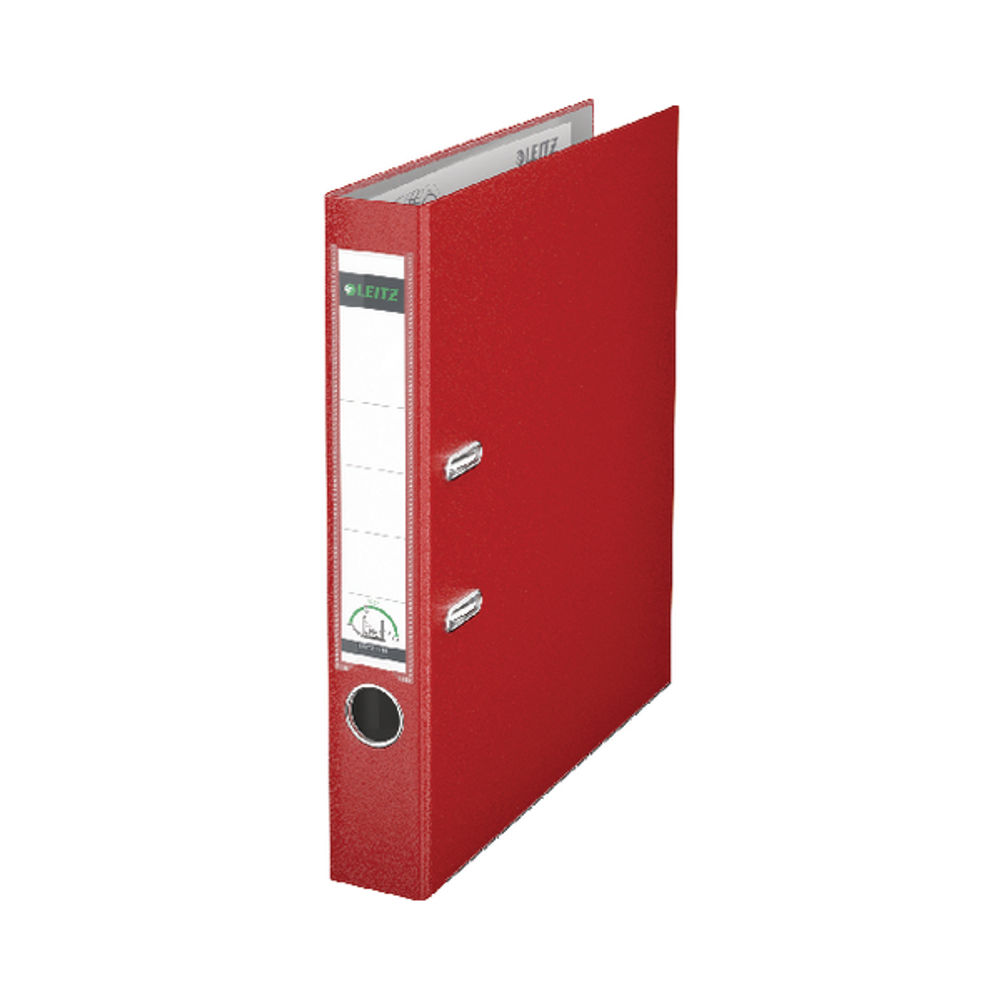 Leitz 180 Lever Arch File Poly 50mm A4 Red (Pack of 10) 10151025