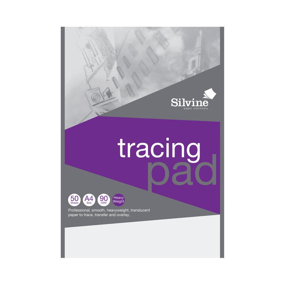 Silvine Professional Tracing Pad 50 Sheets A4 A4TPR