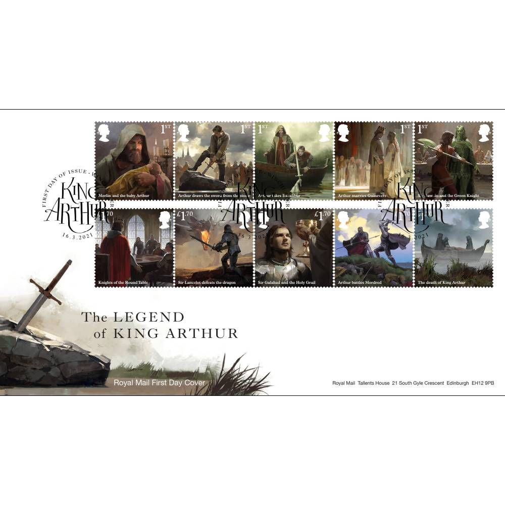 The Legend of King Arthur Souvenir Stamp Cover