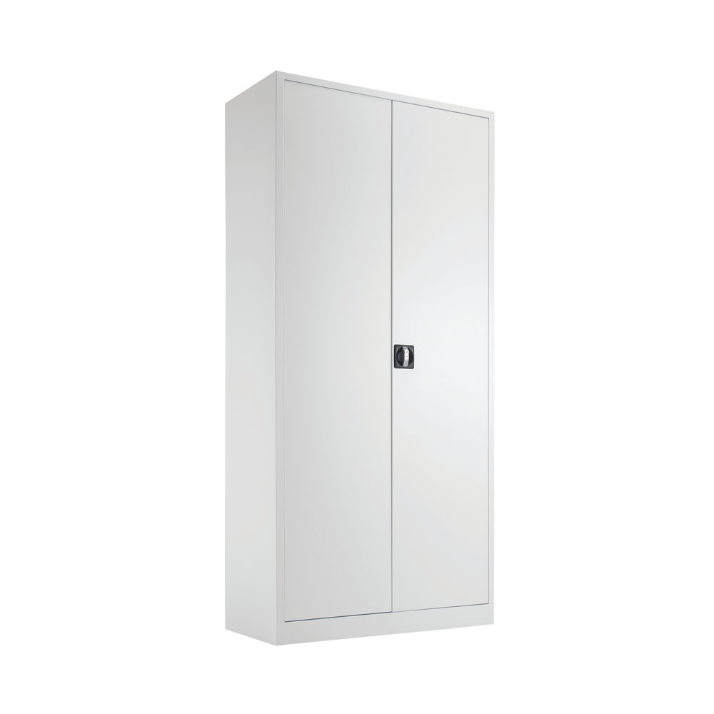 Talos 1950mm White Double Door Stationery Cupboard