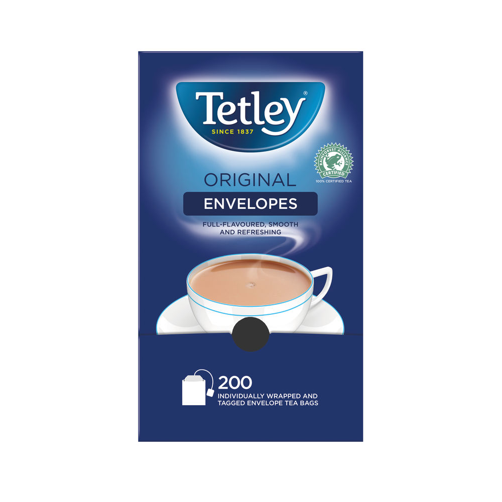 Tetley Original Envelope Tea Bags, Pack of 200 - A08097