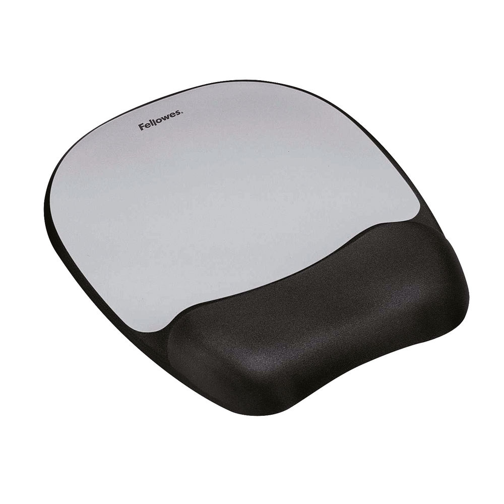 Fellowes Memory Foam Mouse Pad Black/Silver 9175801