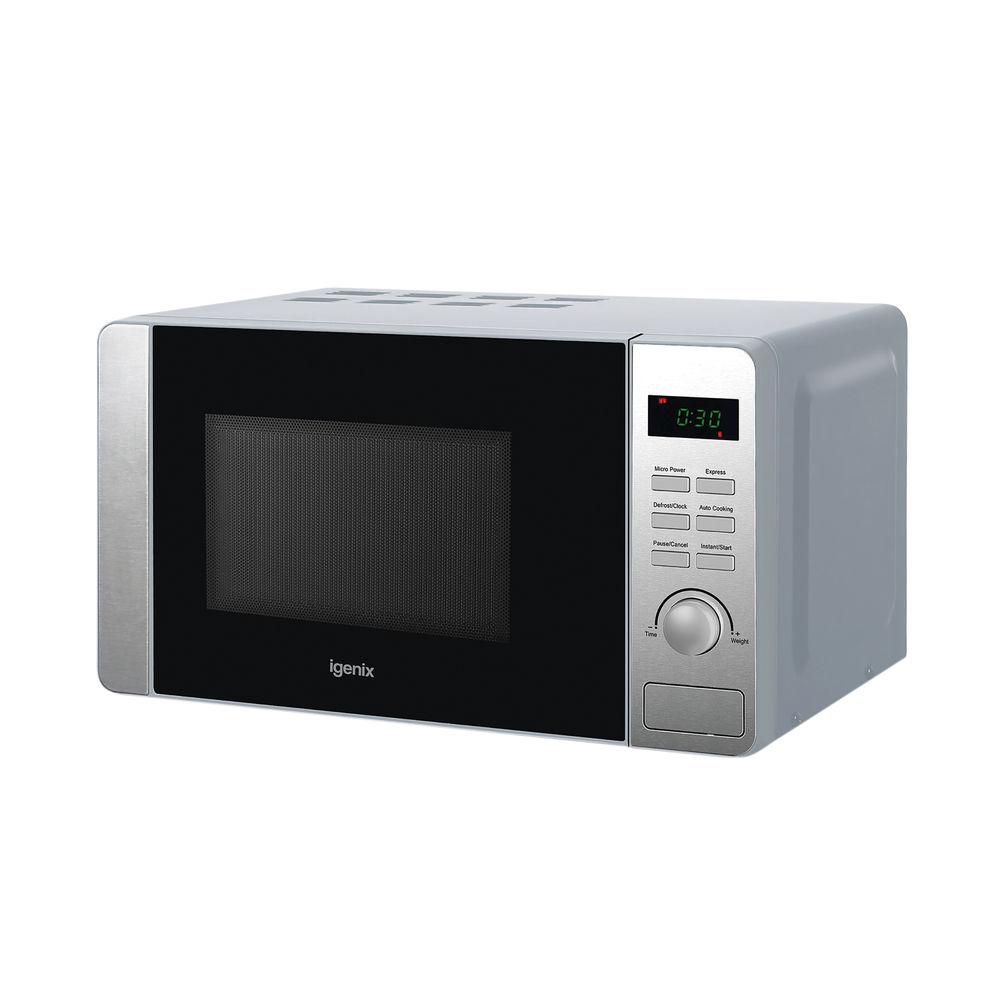 Igenix 20 Litre 800w Digital Control Microwave Stainless Steel IG2086