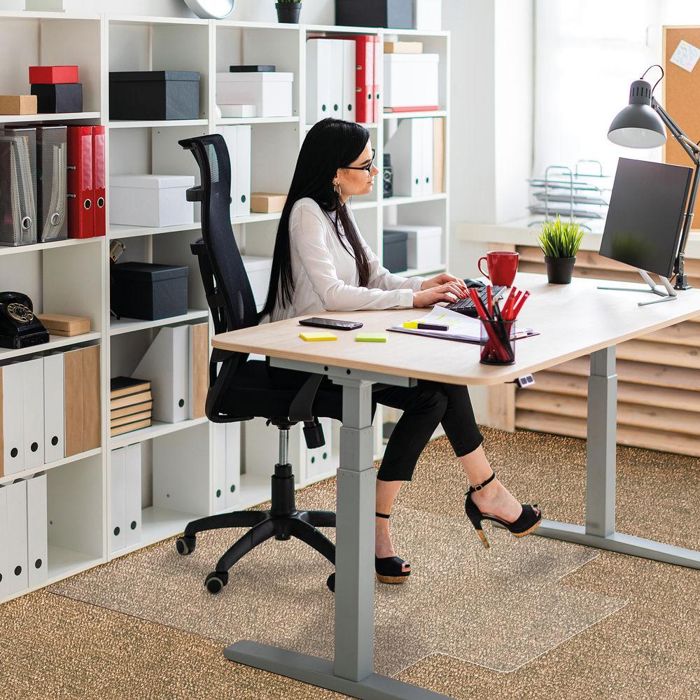 Floortex 1150 x 1340mm Lipped Carpet Chair Mat - 11341525LV