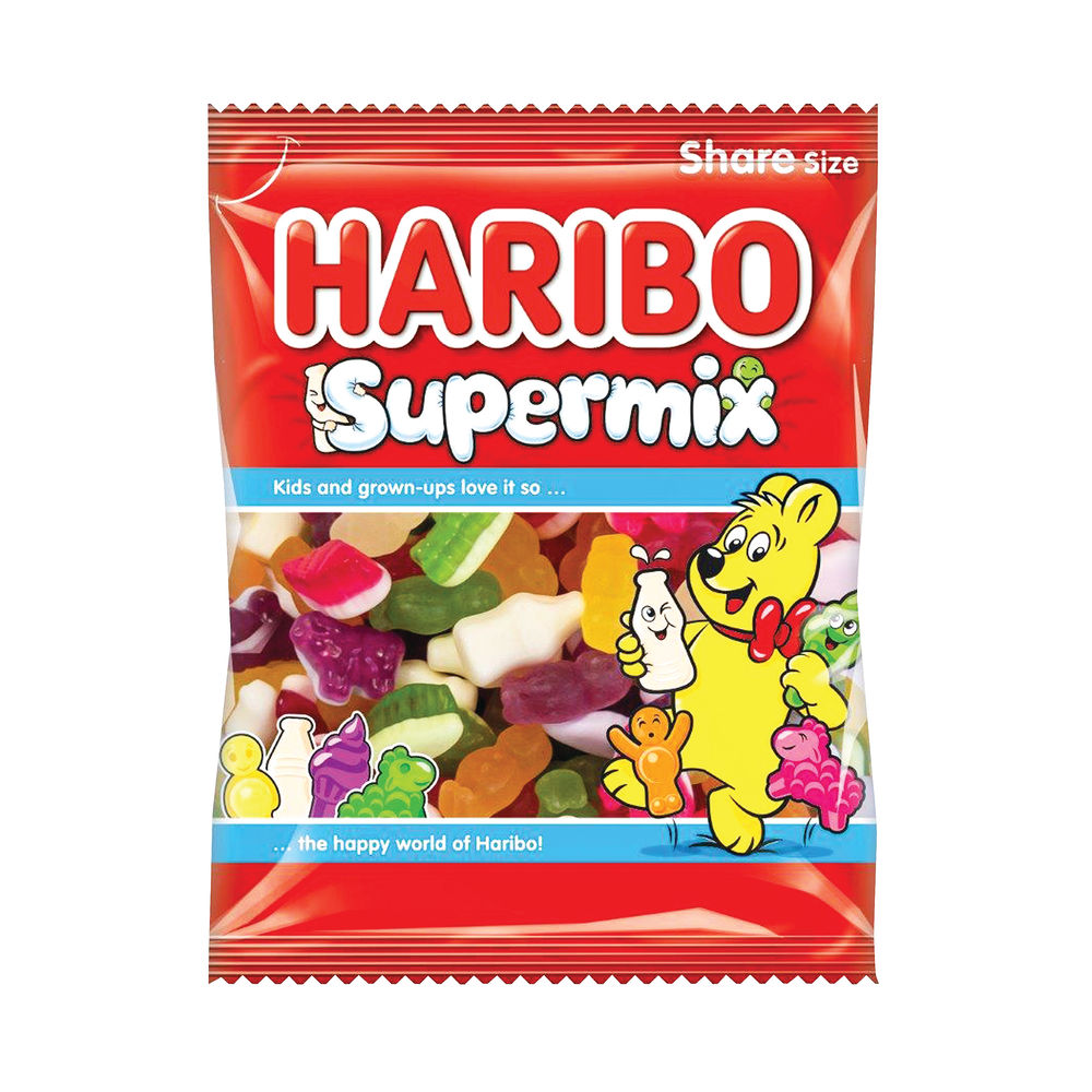 Haribo 140g Supermix Bags, Pack of 12 - 727730