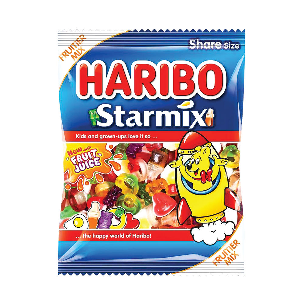 Haribo 140g Bags Starmix, Pack of 12 - 730730