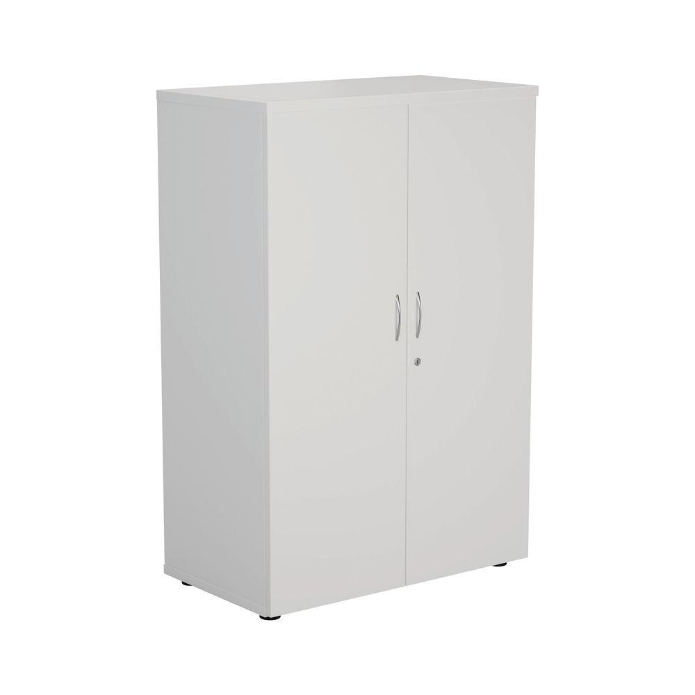 First 1200mm White Wooden Storage Cupboard