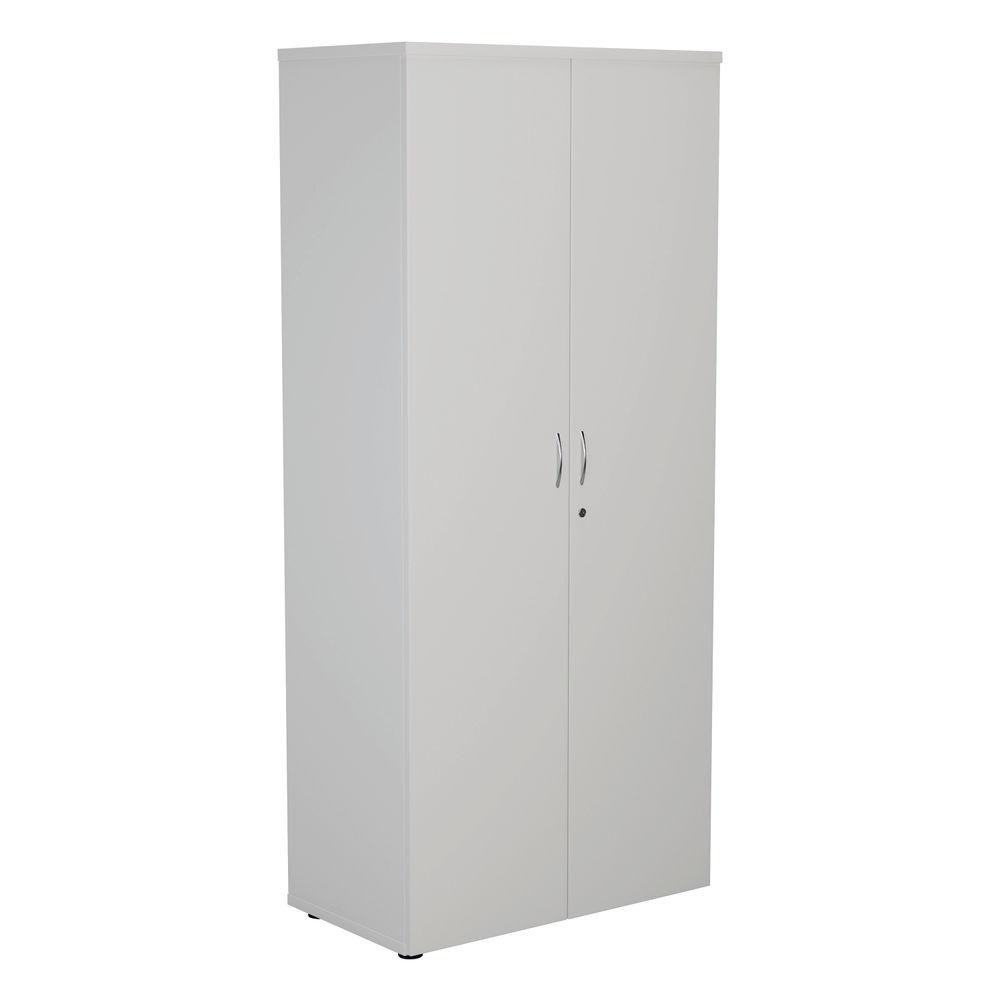 First 1800mm White Wooden Storage Cupboard