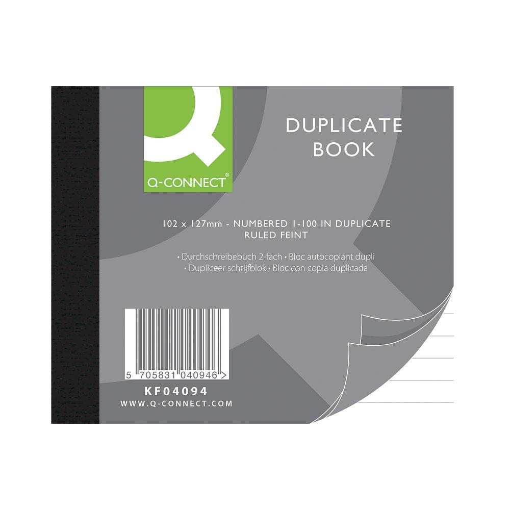 Q-Connect 102 x 127mm Feint Ruled Duplicate Book - KF04094