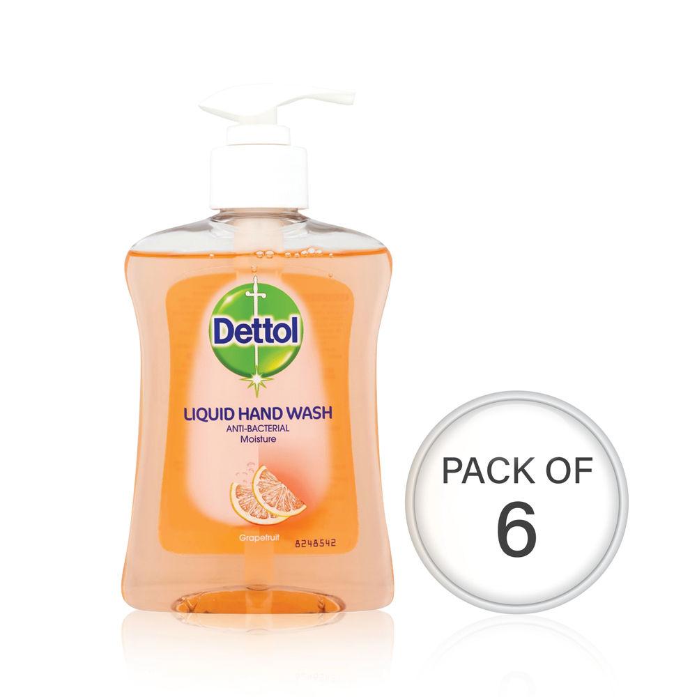Dettol Moisture Hand Wash 250ml (Pack Of 6) 74992