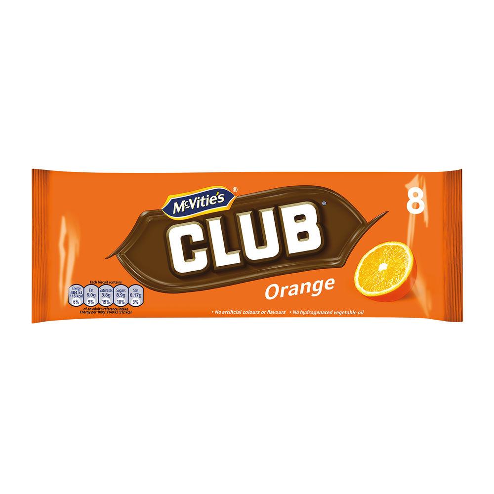 McVities Club Orange Biscuits, Pack of 8 - 16726