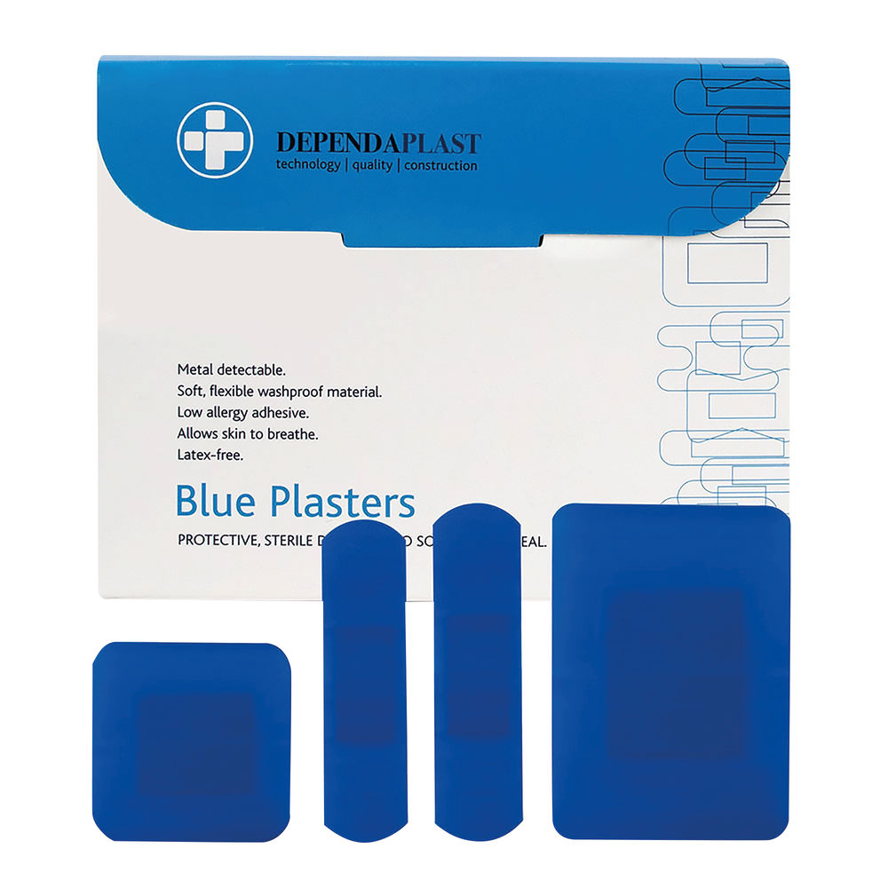 Reliance Medical Dependaplast Blue Plasters Assorted (Pack of 100) 546