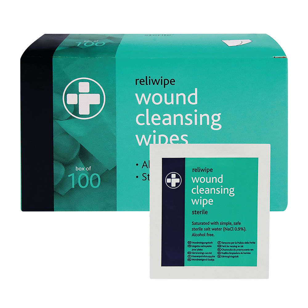 Reliance Individually Wrapped Medical Reliwipe Wound Cleansing Wipes (Pack of 100) 745