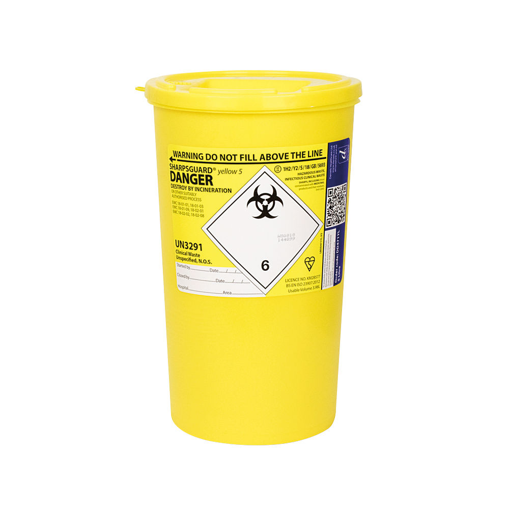 Reliance Medical 5 Litre Sharps Container - 4600