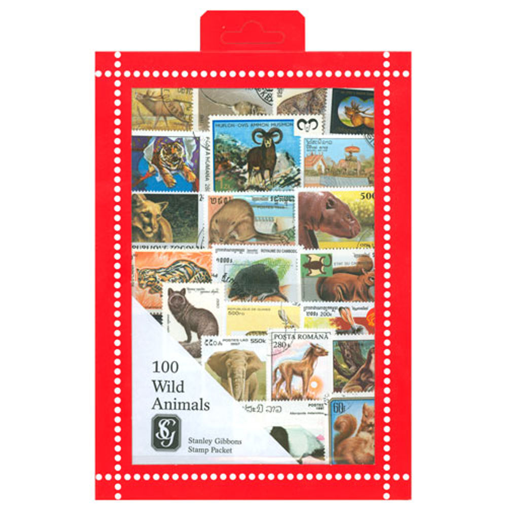 Wild Animals Stamps Collection, 100 Stamps - R3670