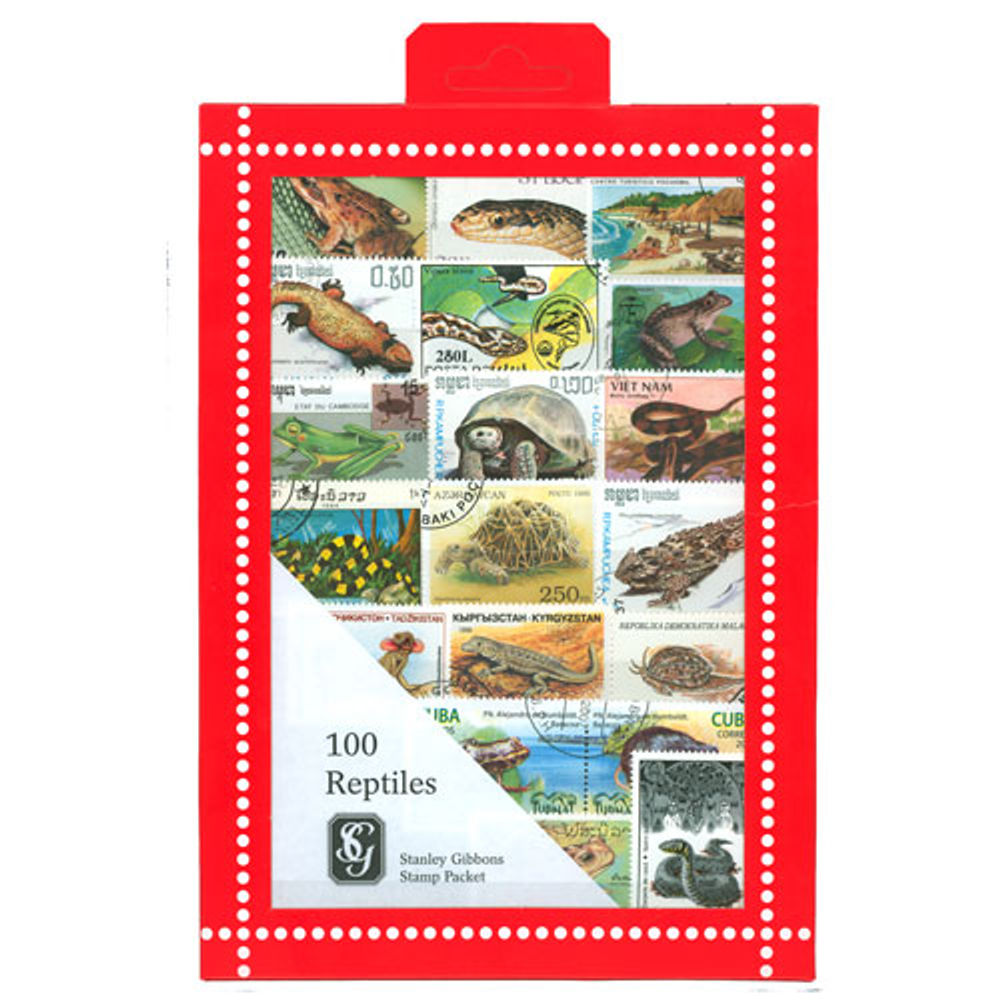 Reptile Stamps Collection, 100 Stamps - R3668