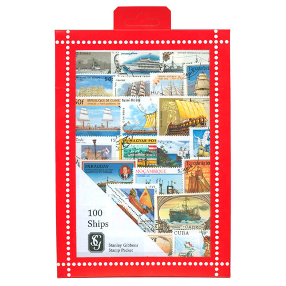 Ship Stamps Collection, 100 Stamps - R3663