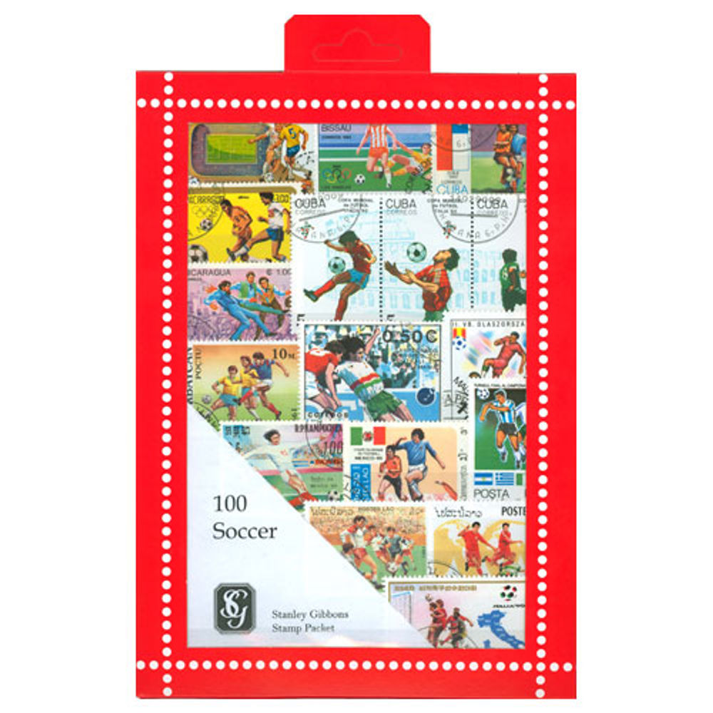 Football Stamps Collection - 100 Stamps - R3659