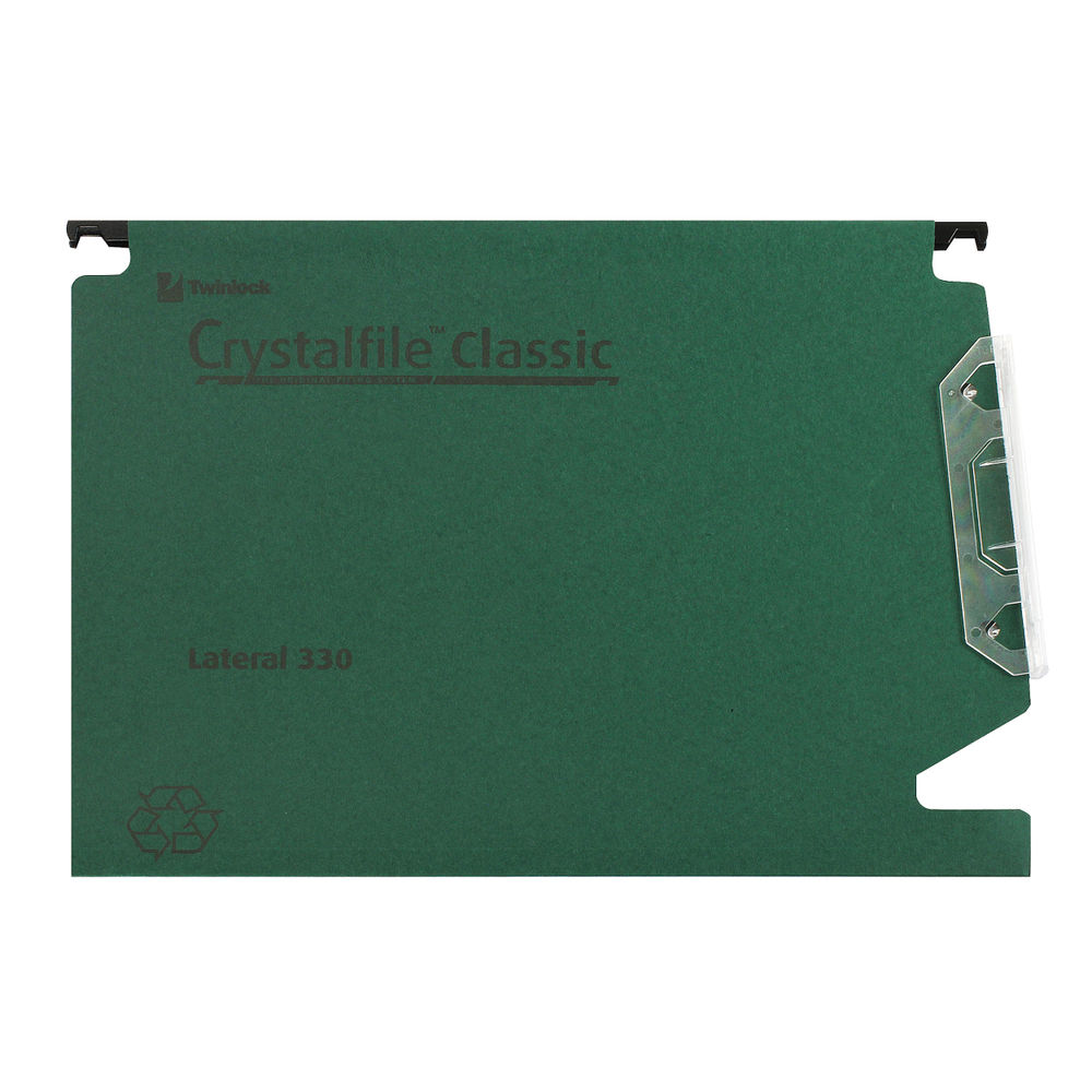 Rexel Crystalfile Classic 15mm Lateral File Green (Pack of 50) 70670