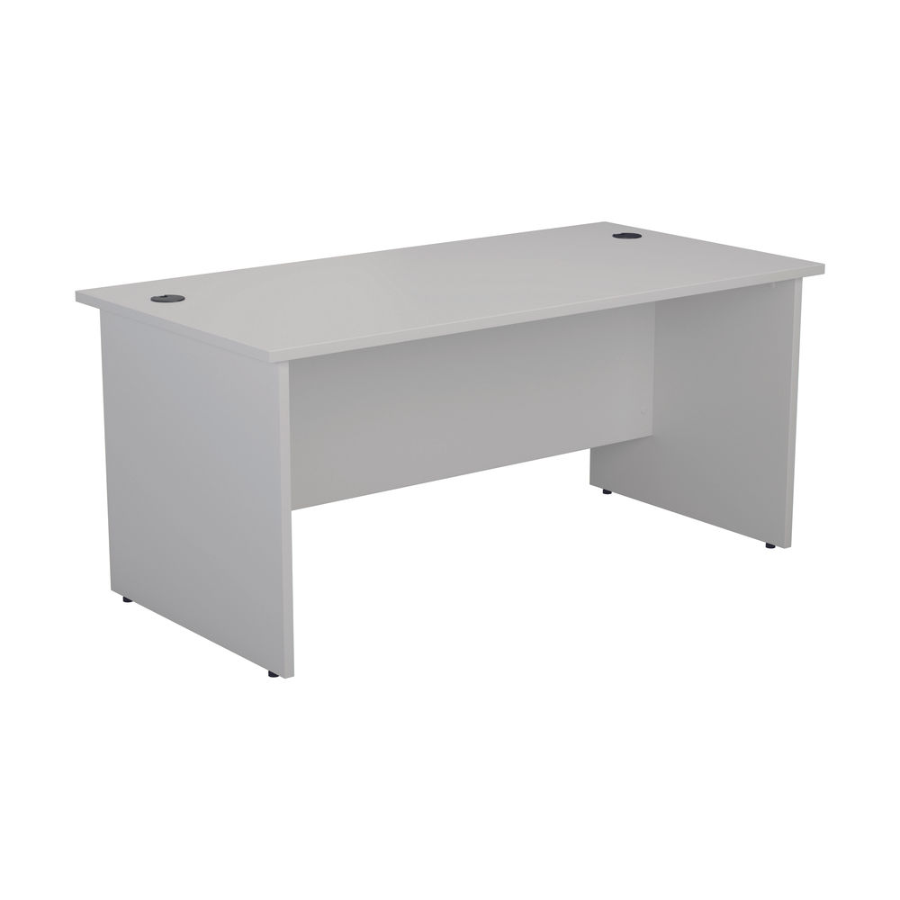 Jemini 1400mm White Rectangular Panel End Desk