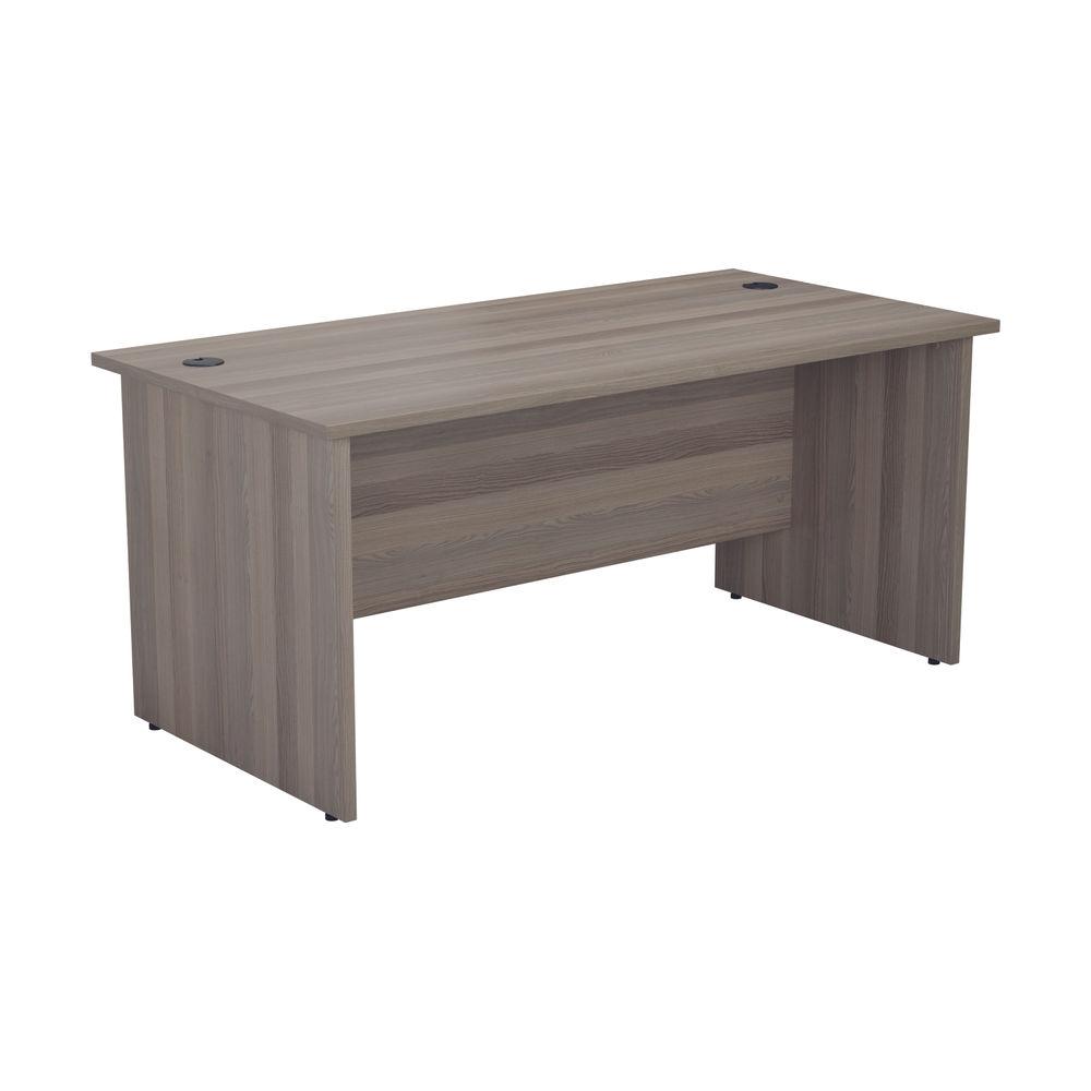 Jemini 1800mm Grey Oak Rectangular Panel End Desk