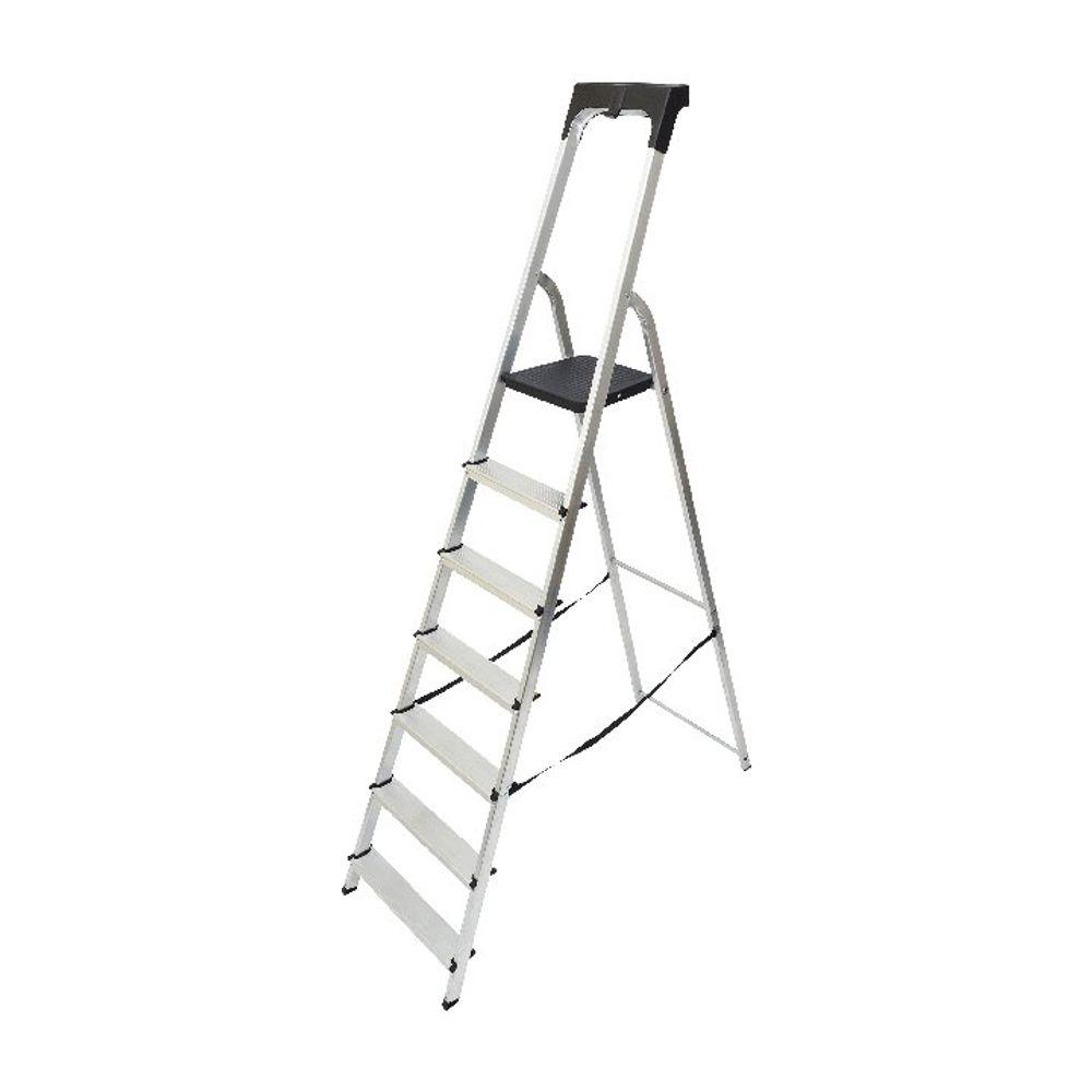 Werner Aluminium High Handrail 7 Tread Step Ladder 7410718