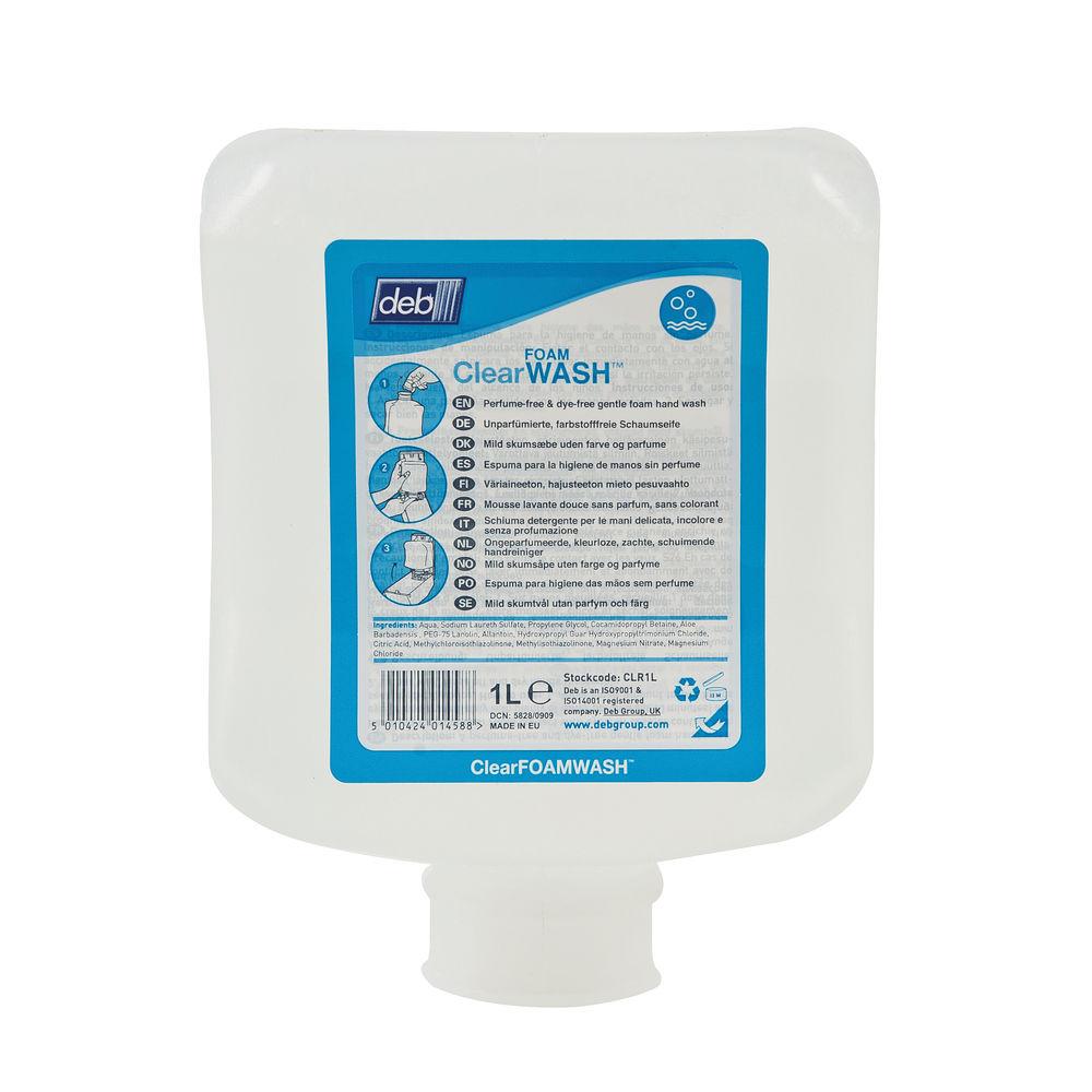 Deb Refresh Clear FOAM Wash 1 Litre Cartridge (Pack of 6) CLR1L