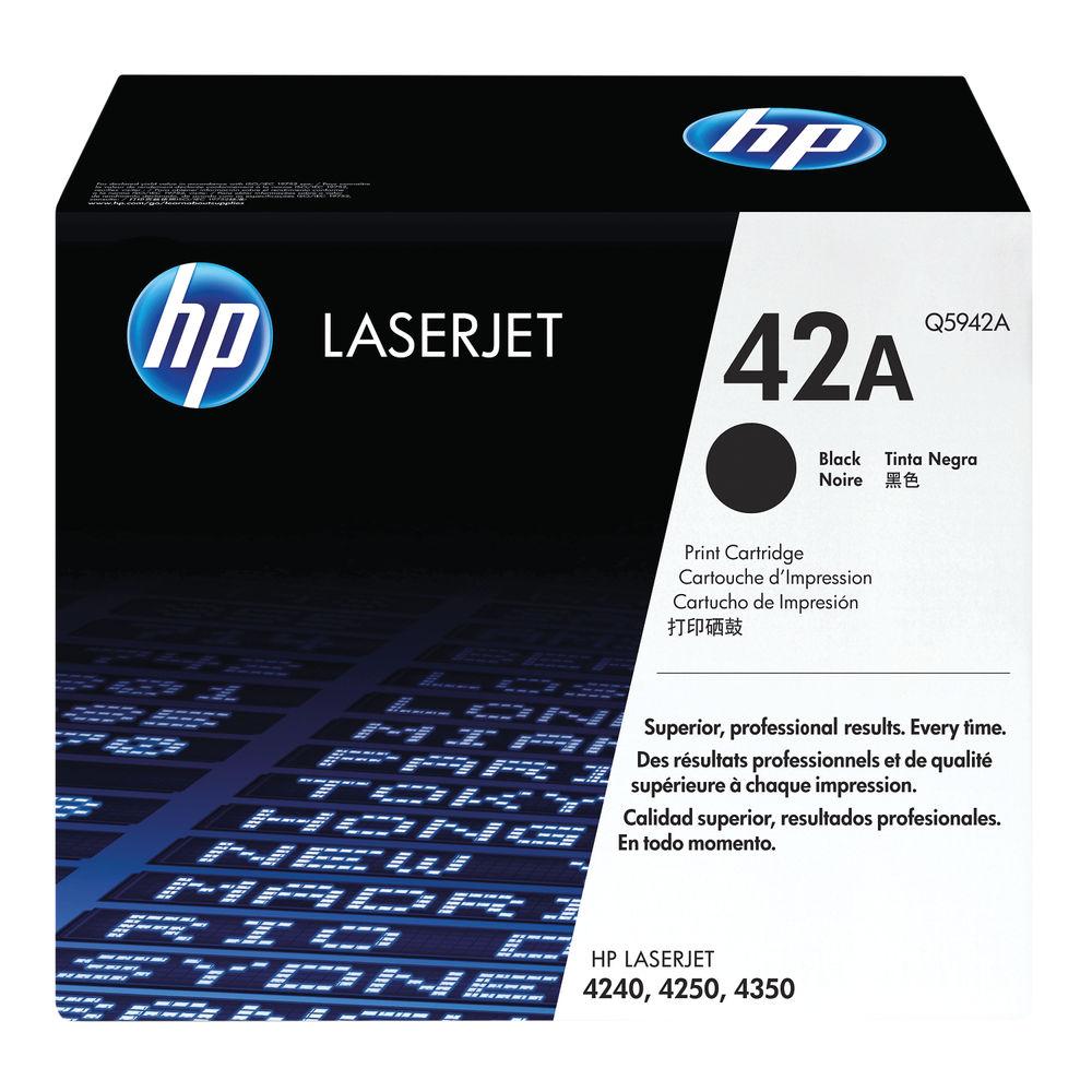 HP 42A Black Toner Cartridge - Q5942A