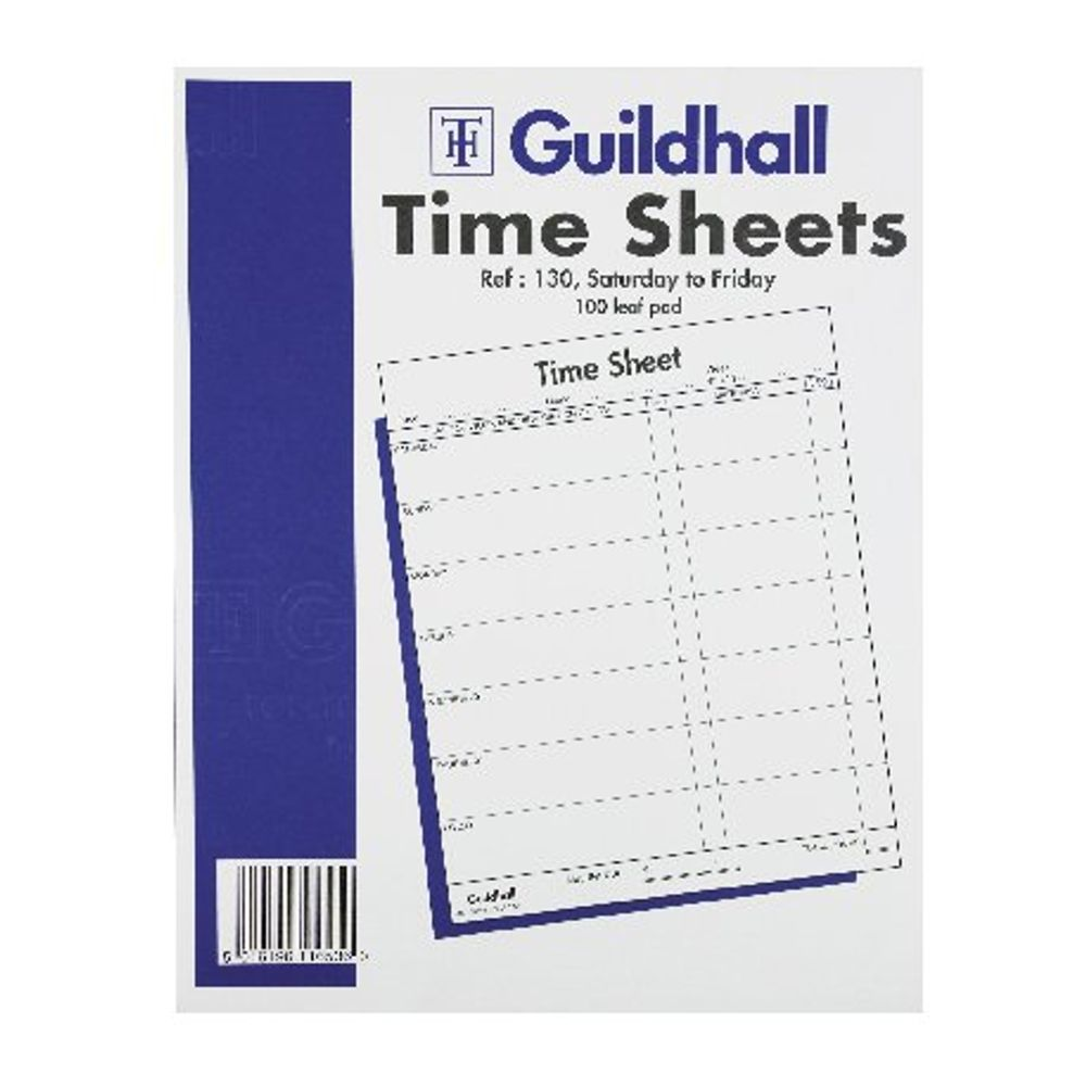 Guildhall Workmen Time Sheets, Saturday to Friday, 100 Sheets - 1653