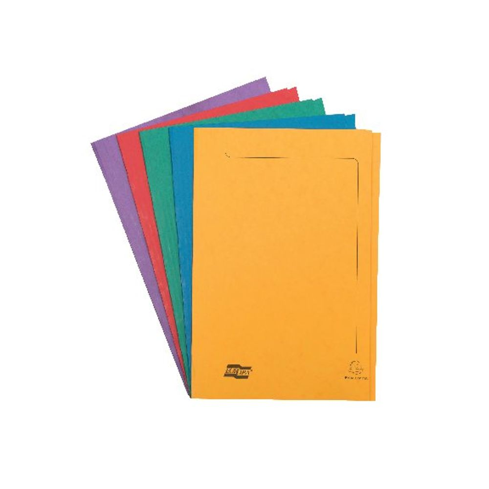 Europa Assorted A4/Foolscap Square Cut Folders 300gsm - Pack of 50 - 4820