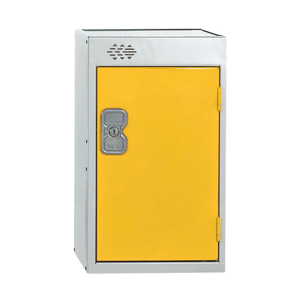 One Compartment D450mm Yellow Quarto Locker - MC00084
