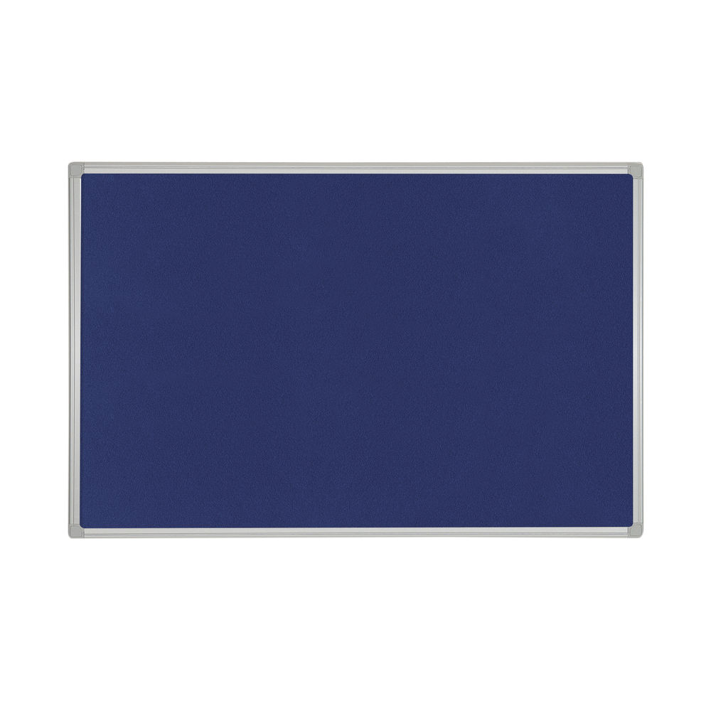 Bi-Office Felt Noticeboard 1200x900mm Blue FB1443186