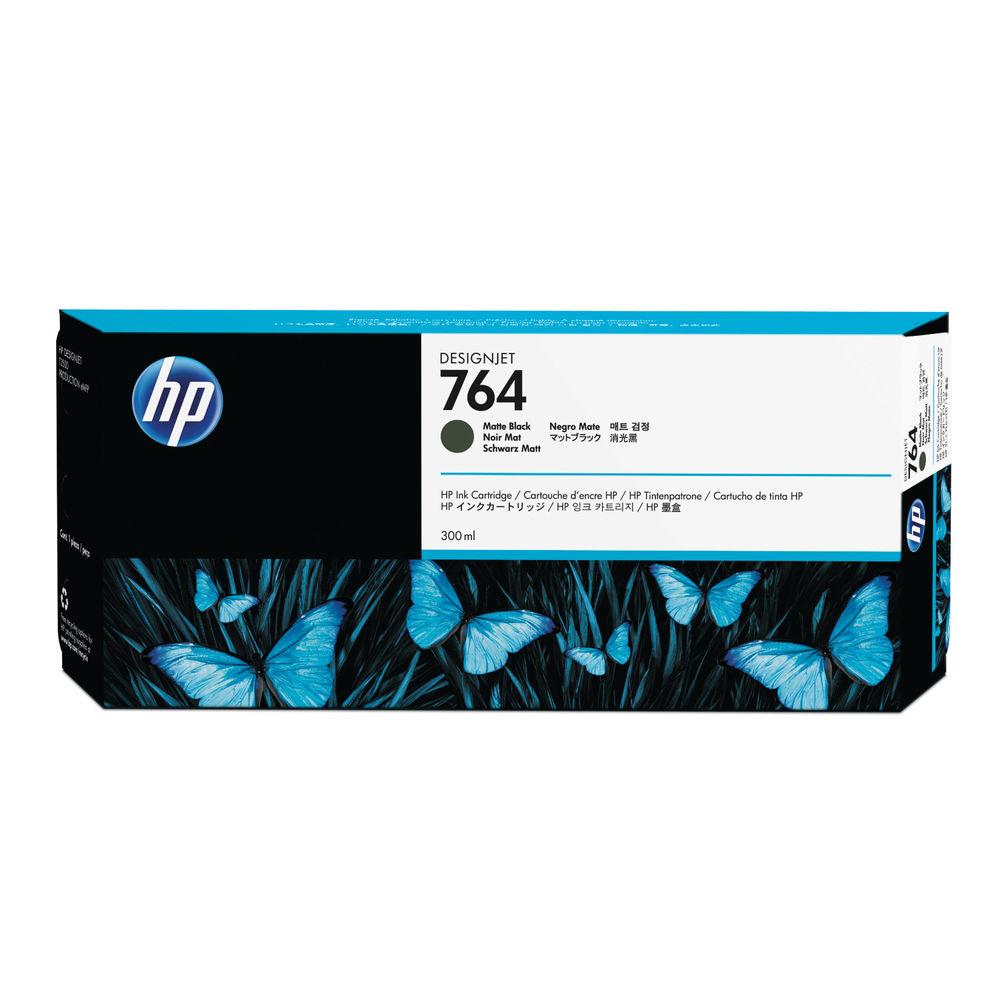 HP 764 Matte Black Designjet Ink Cartridge C1Q16A
