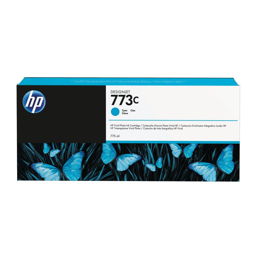HP 773C Cyan Ink Cartridge - C1Q42A