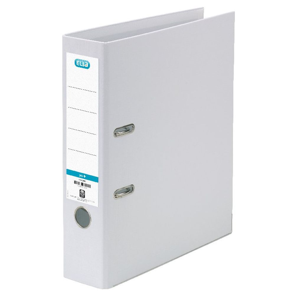 Elba PVC White A4 Lever Arch File 70mm - 1450-07
