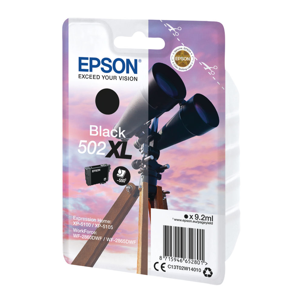 Epson Singlepack 502XL Black Ink Cartridge - C13T02W14010