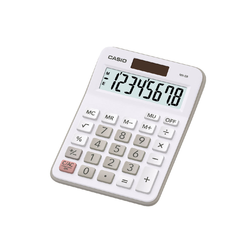 Casio MX-8B-WE Desktop Calculator - CS16415