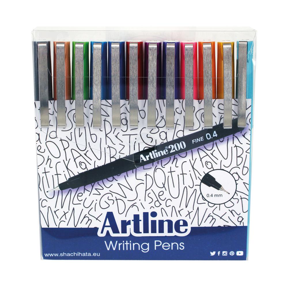 Artline EK200 Writing Pen Fashion Assorted (Pack of 12) EK200W12