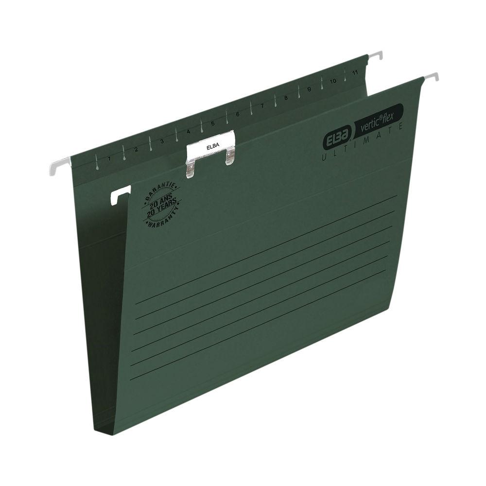 Elba Ulti Vert Suspension File 30mm FC Green (Pack of 50) 100331114