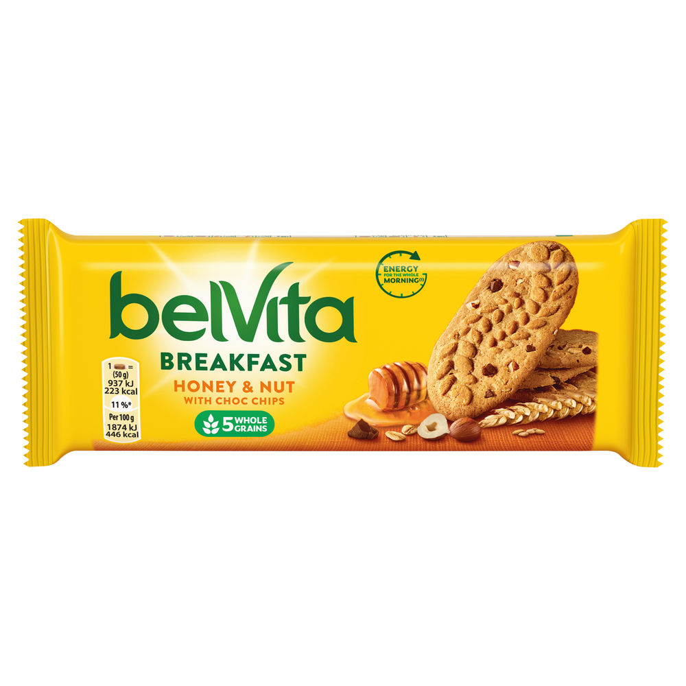 Belvita 50g Breakfast Honey Nut Bars, Pack of 20 - 665183