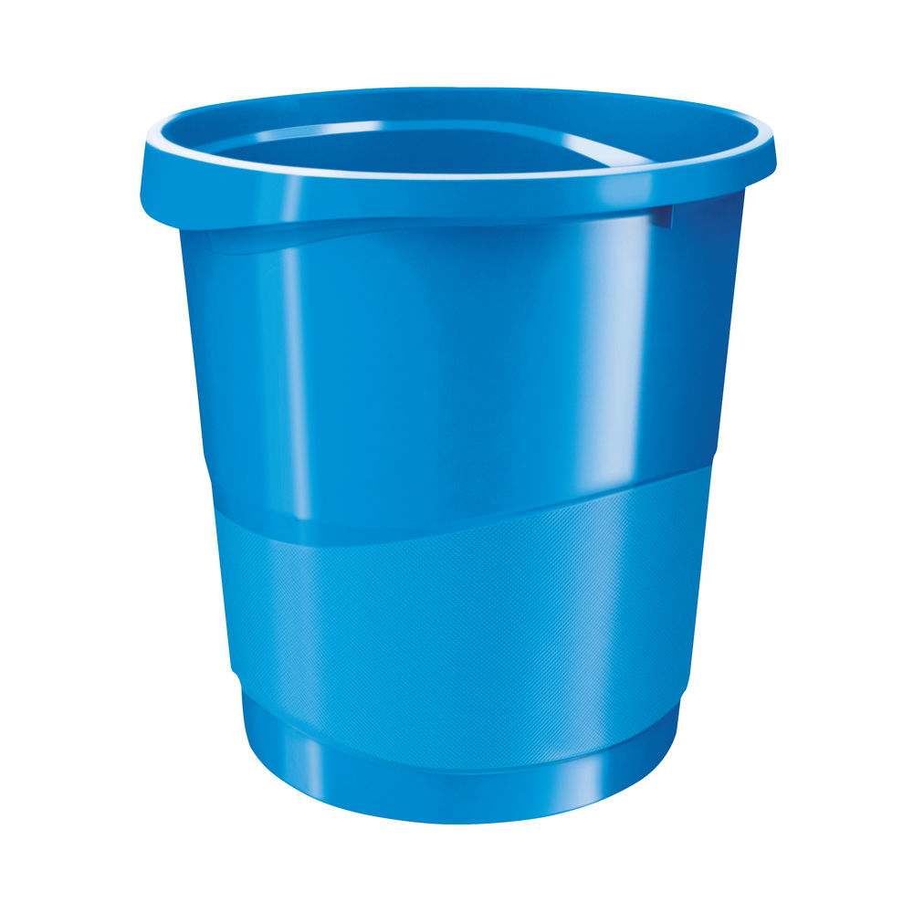 Rexel Choices Waste Bin 14 Litre Blue 2115619